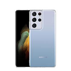 Samsung Galaxy S21 Ultra 5G用極薄ソフトケース シリコンケース 耐衝撃 全面保護 クリア透明 T03 サムスン クリア