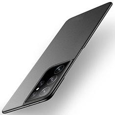 Samsung Galaxy S21 Ultra 5G用ハードケース プラスチック 質感もマット カバー M01 サムスン ブラック