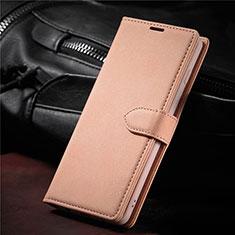 Samsung Galaxy S21 Ultra 5G用手帳型 レザーケース スタンド カバー L08 サムスン ローズゴールド