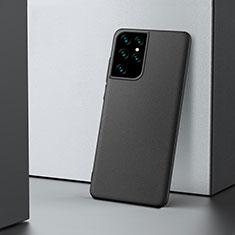 Samsung Galaxy S21 Ultra 5G用ハードケース プラスチック 質感もマット カバー M02 サムスン ブラック