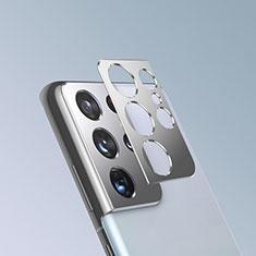 Samsung Galaxy S21 Ultra 5G用強化ガラス カメラプロテクター カメラレンズ 保護ガラスフイルム サムスン シルバー