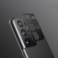 Samsung Galaxy S21 Ultra 5G用強化ガラス カメラプロテクター カメラレンズ 保護ガラスフイルム サムスン ブラック