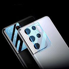 Samsung Galaxy S21 Ultra 5G用強化ガラス カメラプロテクター カメラレンズ 保護ガラスフイルム C01 サムスン クリア