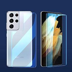Samsung Galaxy S21 Ultra 5G用高光沢 液晶保護フィルム 背面保護フィルム同梱 サムスン クリア