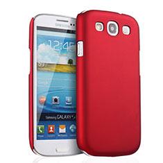 Samsung Galaxy S3 III LTE 4G用ハードケース プラスチック 質感もマット サムスン レッド