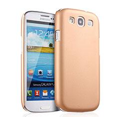 Samsung Galaxy S3 III LTE 4G用ハードケース プラスチック 質感もマット サムスン ゴールド