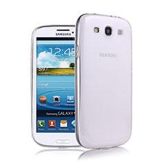 Samsung Galaxy S3 III LTE 4G用極薄ソフトケース シリコンケース 耐衝撃 全面保護 クリア透明 サムスン ホワイト