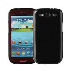 Samsung Galaxy S3 III LTE 4G用シリコンケース ソフトタッチラバー サムスン ブラック