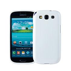 Samsung Galaxy S3 III LTE 4G用シリコンケース ソフトタッチラバー サムスン ホワイト