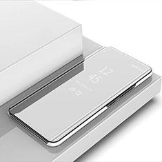 Samsung Galaxy S30 Ultra 5G用手帳型 レザーケース スタンド 鏡面 カバー サムスン シルバー