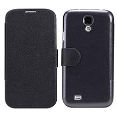 Samsung Galaxy S4 i9500 i9505用手帳型 レザーケース スタンド サムスン ブラック
