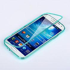 Samsung Galaxy S4 IV Advance i9500用ソフトケース フルカバー クリア透明 サムスン ブルー
