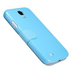 Samsung Galaxy S4 IV Advance i9500用手帳型 レザーケース スタンド サムスン ネイビー
