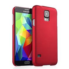 Samsung Galaxy S5 G900F G903F用ハードケース プラスチック 質感もマット サムスン レッド