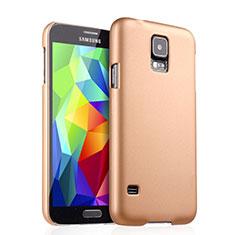 Samsung Galaxy S5 G900F G903F用ハードケース プラスチック 質感もマット サムスン ゴールド