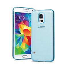 Samsung Galaxy S5 G900F G903F用極薄ソフトケース シリコンケース 耐衝撃 全面保護 クリア透明 サムスン ネイビー