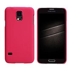 Samsung Galaxy S5 G900F G903F用ハードケース プラスチック 質感もマット M02 サムスン レッド