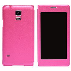 Samsung Galaxy S5 G900F G903F用手帳型 レザーケース スタンド サムスン ローズレッド