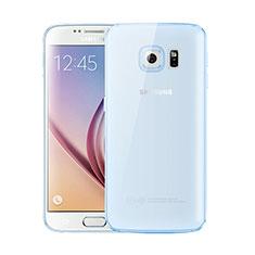 Samsung Galaxy S6 Duos SM-G920F G9200用極薄ソフトケース シリコンケース 耐衝撃 全面保護 クリア透明 H01 サムスン ネイビー