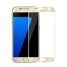 Samsung Galaxy S6 Duos SM-G920F G9200用強化ガラス フル液晶保護フィルム サムスン ゴールド