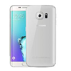 Samsung Galaxy S6 Edge+ Plus SM-G928F用極薄ソフトケース シリコンケース 耐衝撃 全面保護 クリア透明 H01 サムスン グレー