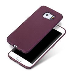 Samsung Galaxy S6 Edge+ Plus SM-G928F用極薄ソフトケース シリコンケース 耐衝撃 全面保護 サムスン パープル