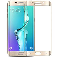 Samsung Galaxy S6 Edge+ Plus SM-G928F用強化ガラス フル液晶保護フィルム F02 サムスン ホワイト