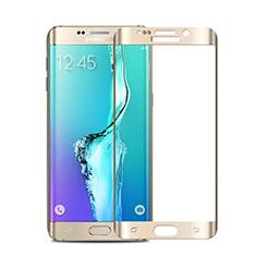 Samsung Galaxy S6 Edge+ Plus SM-G928F用強化ガラス フル液晶保護フィルム サムスン ゴールド