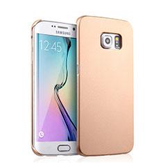 Samsung Galaxy S6 Edge SM-G925用ハードケース プラスチック 質感もマット サムスン ゴールド