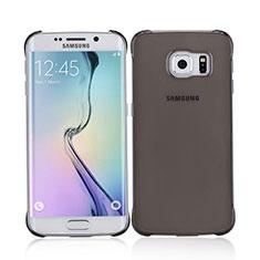 Samsung Galaxy S6 Edge SM-G925用極薄ケース クリア透明 プラスチック サムスン グレー