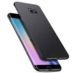 Samsung Galaxy S6 Edge SM-G925用ハードケース カバー プラスチック Q01 サムスン ブラック