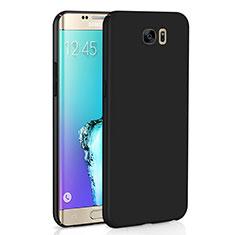 Samsung Galaxy S6 Edge SM-G925用ハードケース プラスチック 質感もマット M03 サムスン ブラック