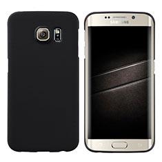 Samsung Galaxy S6 Edge SM-G925用ハードケース プラスチック 質感もマット M04 サムスン ブラック