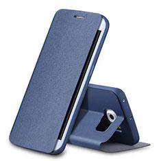 Samsung Galaxy S6 Edge SM-G925用手帳型 レザーケース スタンド サムスン ネイビー