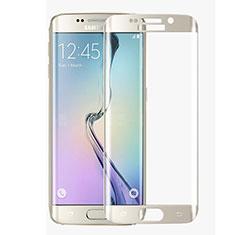 Samsung Galaxy S6 Edge SM-G925用強化ガラス フル液晶保護フィルム F02 サムスン ホワイト