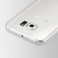 Samsung Galaxy S6 SM-G920用極薄ソフトケース シリコンケース 耐衝撃 全面保護 クリア透明 T02 サムスン クリア