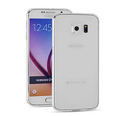 Samsung Galaxy S6 SM-G920用極薄ソフトケース シリコンケース 耐衝撃 全面保護 クリア透明 T03 サムスン クリア