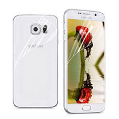 Samsung Galaxy S6 SM-G920用高光沢 液晶保護フィルム 背面保護フィルム同梱 サムスン クリア
