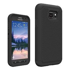 Samsung Galaxy S7 Active G891A用前面と背面 360度 フルカバー 極薄ソフトケース シリコンケース 耐衝撃 全面保護 サムスン ブラック