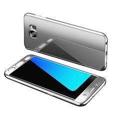 Samsung Galaxy S7 Edge G935F用ハードケース プラスチック 質感もマット 前面と背面 360度 フルカバー サムスン シルバー