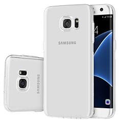 Samsung Galaxy S7 Edge G935F用極薄ソフトケース シリコンケース 耐衝撃 全面保護 クリア透明 H01 サムスン クリア