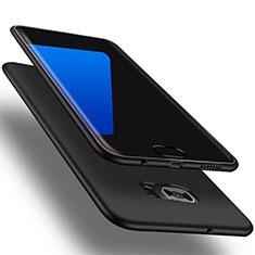 Samsung Galaxy S7 Edge G935F用極薄ソフトケース シリコンケース 耐衝撃 全面保護 S01 サムスン ブラック
