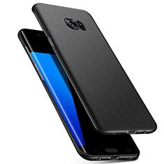 Samsung Galaxy S7 Edge G935F用ハードケース プラスチック 質感もマット M02 サムスン ブラック