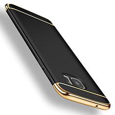 Samsung Galaxy S7 Edge G935F用ケース 高級感 手触り良い メタル兼プラスチック バンパー サムスン ブラック