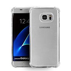 Samsung Galaxy S7 Edge G935F用極薄ソフトケース シリコンケース 耐衝撃 全面保護 クリア透明 T08 サムスン クリア