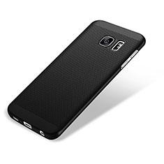 Samsung Galaxy S7 Edge G935F用ハードケース プラスチック メッシュ デザイン サムスン ブラック