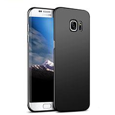 Samsung Galaxy S7 Edge G935F用ハードケース プラスチック 質感もマット M06 サムスン ブラック