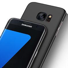 Samsung Galaxy S7 Edge G935F用極薄ケース クリア透明 プラスチック サムスン ブラック
