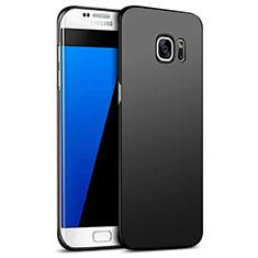 Samsung Galaxy S7 Edge G935F用ハードケース プラスチック 質感もマット M09 サムスン ブラック