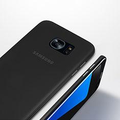 Samsung Galaxy S7 Edge G935F用極薄ケース クリア透明 プラスチック T01 サムスン ブラック